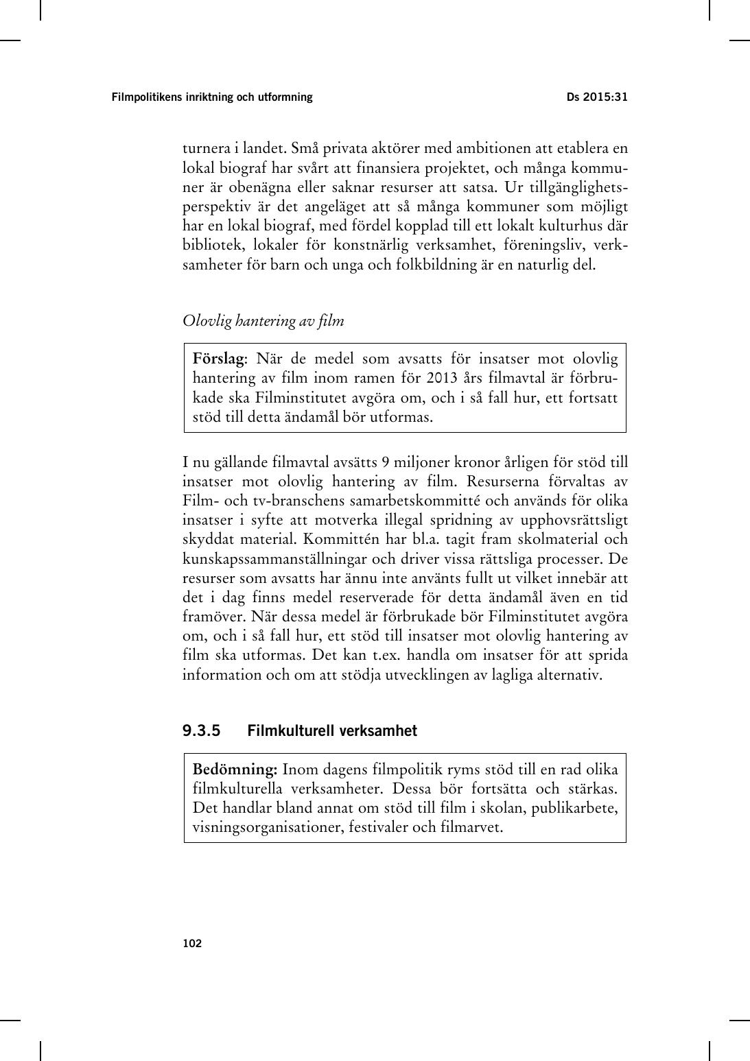 Avsiktsforklaring om ett nytt filmavtal 2006