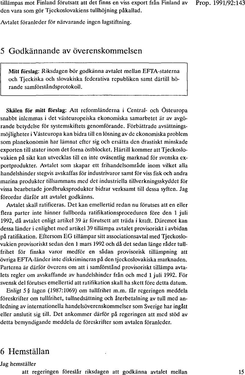 super popular a2da3 3d928 om godkännande av avtal mellan EFTA-staterna och Tjeckiska och ...