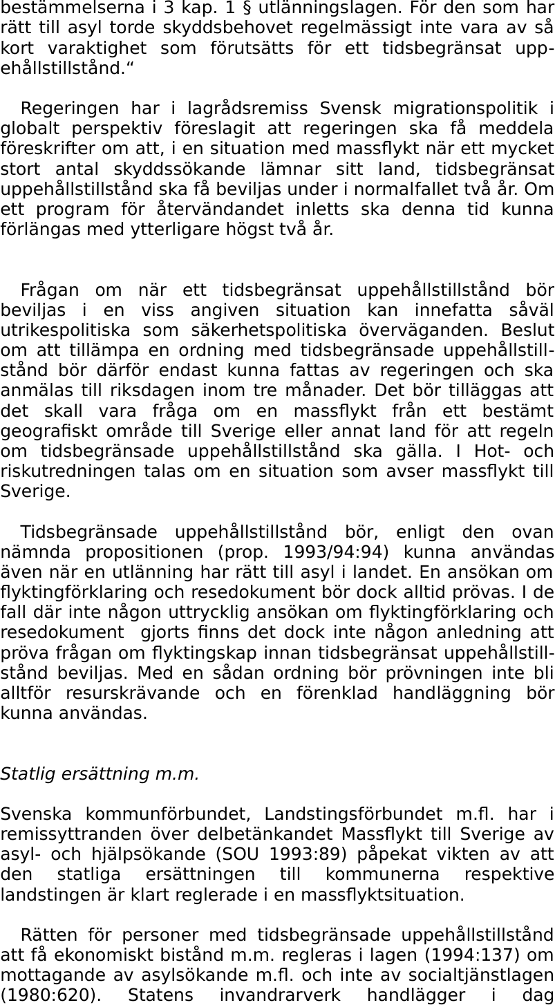 Kalmar hotas av massflykt