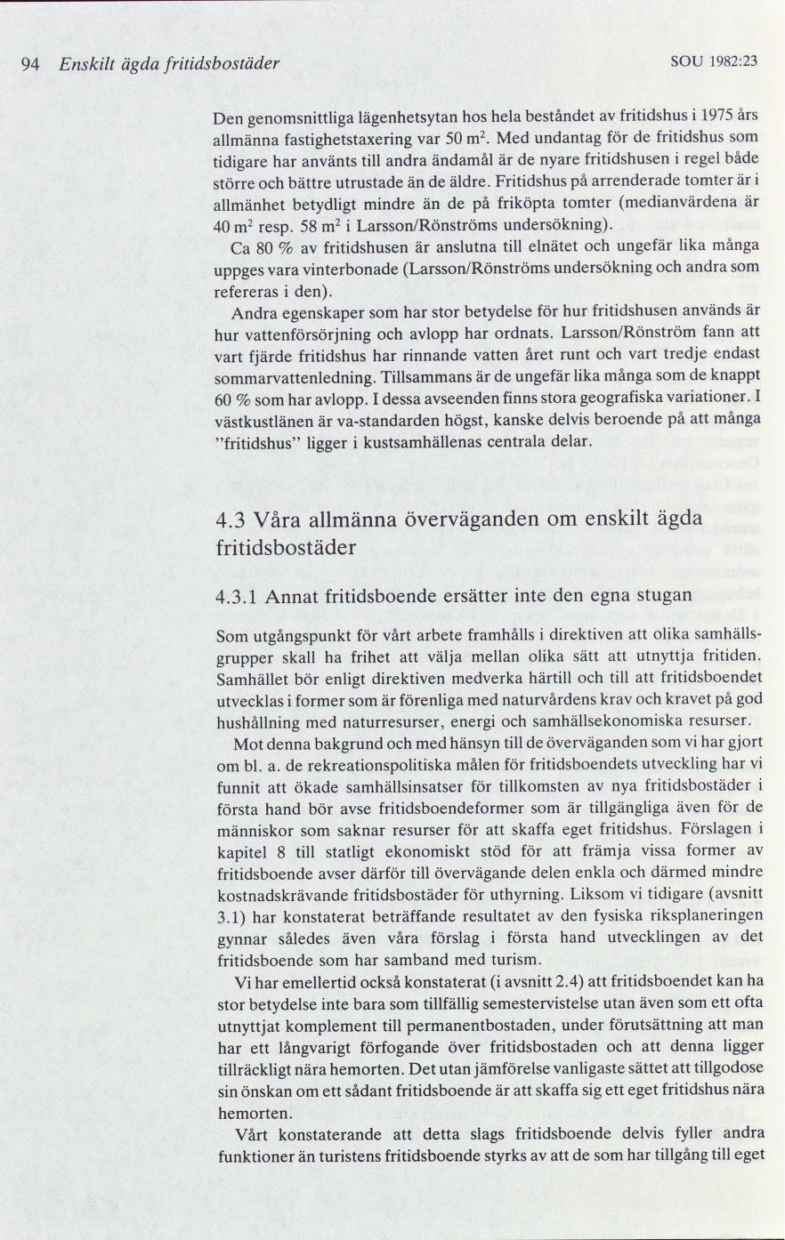 50177cea317e Fritidsboende : slutbetänkande   lagen.nu