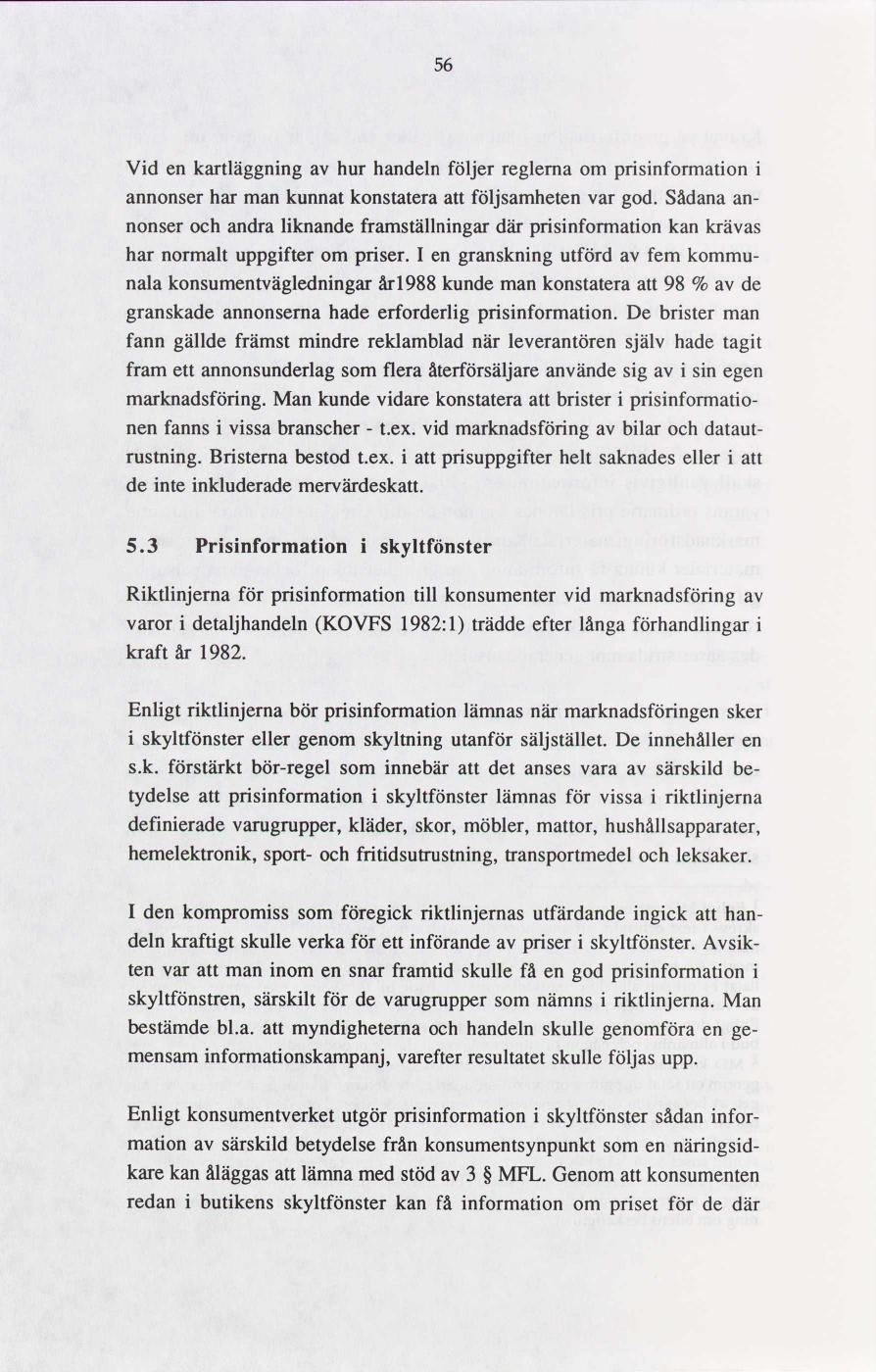 6b47d3ff1b9 Prisinformation till konsumenter : delbetänkande | lagen.nu