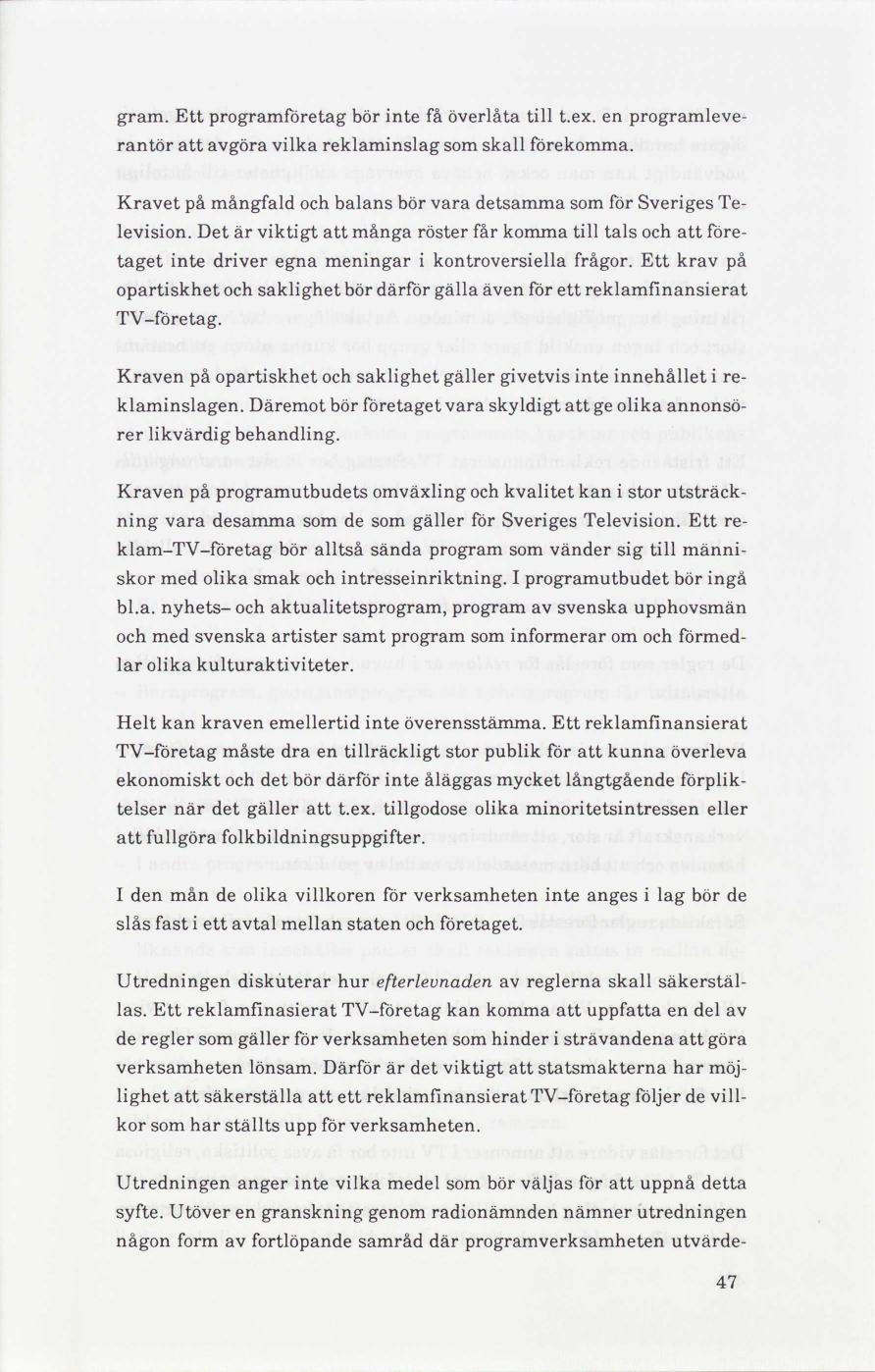Lagstiftning för reklam i svensk TV   delbetänkande  0edaf70188c9e