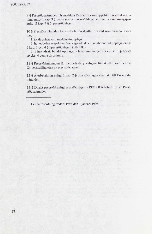 Regeringen klar med forslag till sankt presstod